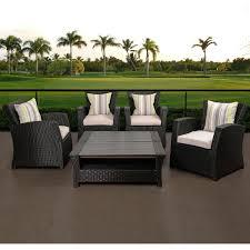 White Resin Wicker Outdoor Patio Furniture Set - atlantic staffordshire 4 person resin wicker patio conversation
