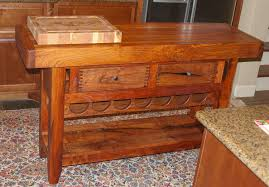 Wine Rack Kitchen Island by Hand Crafted Kitchen Island With Wine Rack By Lonestar Woodworks