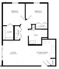 2 Bedroom 1 Bath Floor Plans Douglas Fir U2013 Saint Therese