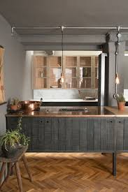 copper worktops rough sawn timber fronts and beautiful parquet