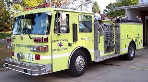 red vs yellow firetrucks parkersburg fire departmentparkersburg
