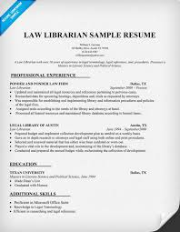 Legal Resume Sample by Law Librarian Resume Sample Http Resumecompanion Com Resume