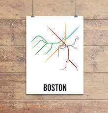 T Boston Map by Boston Subway
