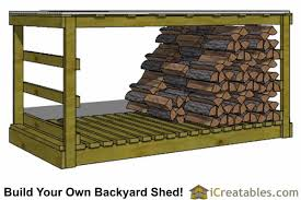 Free Firewood Shelter Plans by 4x8 Shed Plans 4x8 Storage Shed Plans Icreatables Com