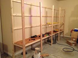 Wood Shelf Plans Free by How To Build Sturdy Garage Shelves Home Improvement Stack
