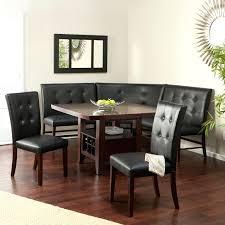 kitchen breakfast nook pine wood dinette set bench dining corner