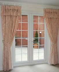 Kitchen Drapery Ideas Pink Floral Kitchen Curtains Rare Window Treatment For French Door