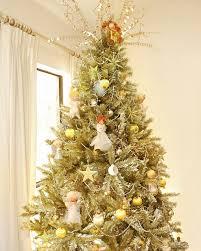 gold christmas tree christmas lights decoration