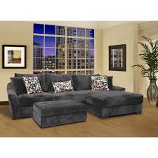 Kenton Fabric 2 Piece Sectional Sofa by Charcoal Gray Sofa With Chaise Tags 54 Imposing Grey Sofa Chaise