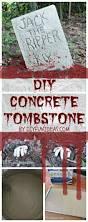 halloween craft diy concrete tombstones