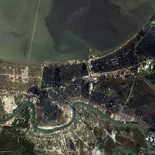 Ninth Ward New Orleans Map by Hurricane Katrina Floods The Southeastern United States Natural