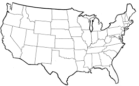 Map Of America With States by Vector Map Of United States Of America With States Outline Us And