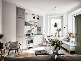 Scandinavian Homes Interiors Kitchen Living Room Entrance 1 Room Inside Spaces