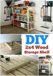 Building Wood Shelves For Storage by Diy 2 4 Garage Shelving