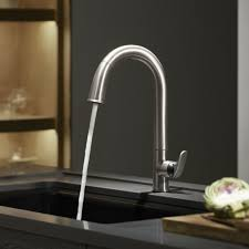 kohler sensate ac powered touchless kitchen faucet in polished for kohler sensate touchless kitchen faucet with 15 12 pull down and kohler k 72218 cp sensate