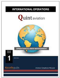 international operations manual flight operations