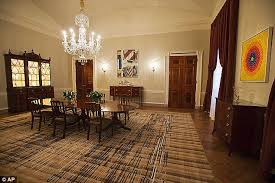 Michelle Obama Unveils K Changes To White House State Dining - Family dining room