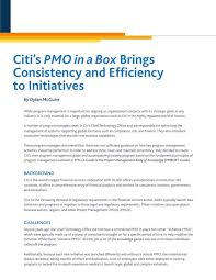 citi u0027s pmo in a box brings consistency and efficiency to