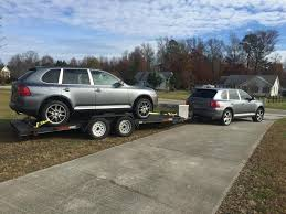 Porsche Cayenne Towing Capacity - towing open trailer with a car rennlist porsche discussion forums