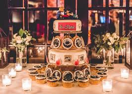 A Tinder themed cake at the wedding of Shana Claudio and Ken Andrews  Credit Ann Marie Collins The New York Times