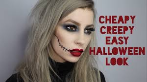 cheapy creepy super quick u0026 easy drugstore halloween makeup look