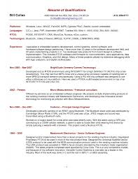 Summary Sample Resume by Resume Skills And Abilities Samples Resume Qualifications Example