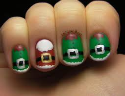 lacquer buzz winter holiday challenge santa and elves