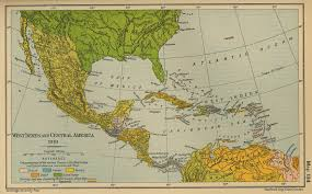 Centro America Map by Central America And The Caribbean Historical Map 1910 Full Size