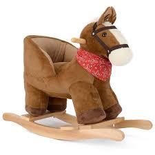 wooden animal rocking horse baby nursery rocker ride on infant