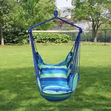 Macrame Hammock Chair Amazon Com Sorbus Hanging Hammock Chair Swing Seat For Any