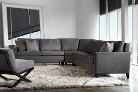 Classic Modern Living Room Living Room Classic Sectional Gray Microfiber Sectional Couch For