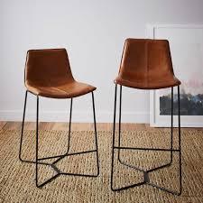 slope leather bar counter stools west elm au