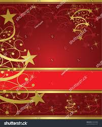 abstract gold christmas tree on red stock vector 39955888