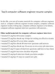 Resume Samples Of Software Engineer by Top8computersoftwareengineerresumesamples 150407034519 Conversion Gate01 Thumbnail 4 Jpg Cb U003d1428396372
