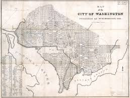Map Of Washington Cities by Large Scale Old Map Of The City Of Washington Dc 1846