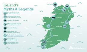 Map Of Ireland And England Myths Of Ireland A Legendary Journey Ireland Com