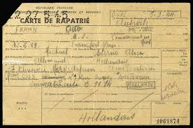 Carte de Rapatri   Otto Frank needed this document  a Repatriation Card  to travel through France on his way back to the Netherlands  Anne Frank House