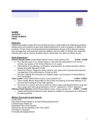 Ex Military Resume Examples by Infantry Experience For Resume