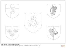 ireland rugby team flag coloring page free printable coloring pages