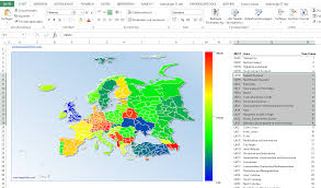Excel Heat Map Excel Maps Generate Excel Charts