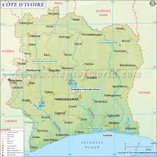 Zip Code Map Of Los Angeles by Cote D U0027ivoire Ivory Coast Map