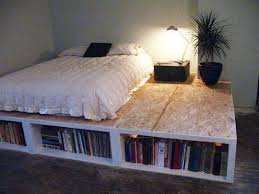 diy queen size bed frame with storage storage decorations