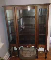 Oak Curio Cabinet Antique Oak Curio Cabinet With Curved Glass Tags 39 Awful Curio