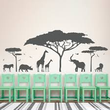 compare prices on nature wall decals online shopping buy low african safari animal wall sticker tree wall decal nature giraffe wall art nursery decor china