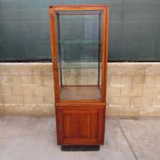 Oak Curio Cabinet Curio Cabinet Curved Glass Vintage Oak Curio Cabinet Corner