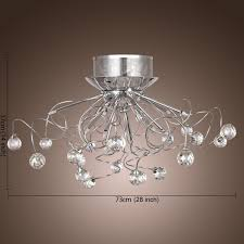 Chandelier Lighting For Dining Room Lightinthebox Modern Crystal Chandelier With 11 Lights Chrom