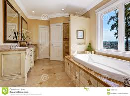 soft tones bathroom interior in luxury house stock photo image