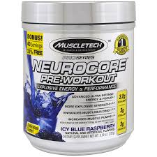 muscletech pro series nuerocore pre workout icy blue raspberry