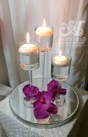 Purple Floating Candles For Centerpieces by Simple U0026 Elegant Wedding Centerpiece 40cm Cylinder Vase Purple