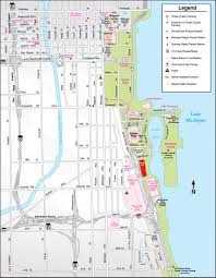 Chicago Parking Map by Chicago Bears A To Z Guide